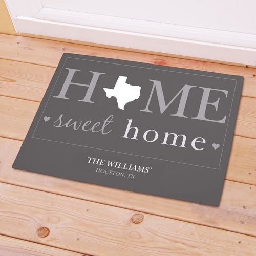 Personalized Home Sweet Home Welcome Doormat