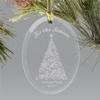 Engraved Christmas Tree Ornament - Tressa Gifts