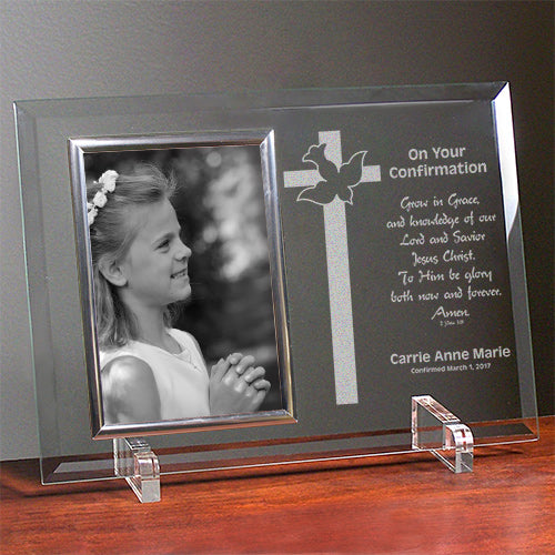 Personalized Confirmation Glass Picture Frame - Tressa Gifts