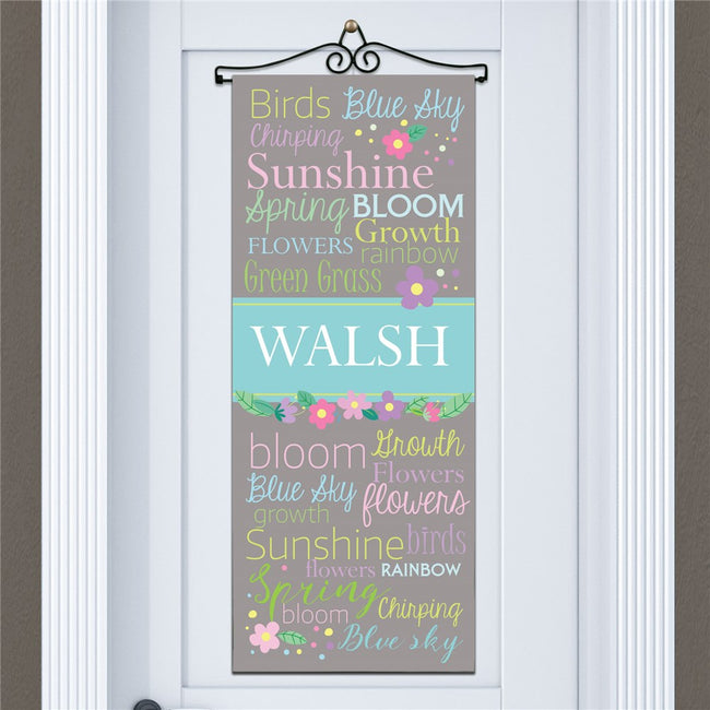Personalized Spring Time Door Banner