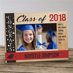 Personalized Congrats Class Of... Wooden Picture Frame - Tressa Gifts