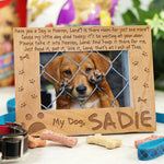 Dog Memorial Picture Frame - Have you a Dog in Heaven - Tressa Gifts