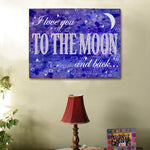 Personalized To The Moon and Back Canvas - Tressa Gifts