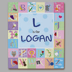 Personalized Alphabet Wall Canvas - Tressa Gifts