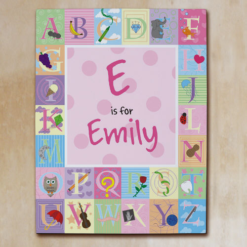 Alphabet girl canvas