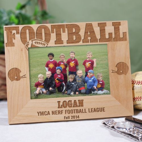 Football Wood Picture Frame - Tressa Gifts