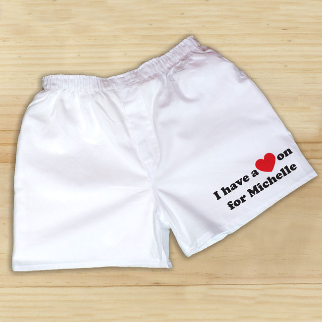 I Have A Heart On Personalized Boxers | Romantic Gifts For Him