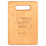 Home Sweet Home Maple Cutting Board
