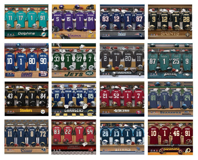 NFL Locker Room Canvas Signs - Tressa Gifts