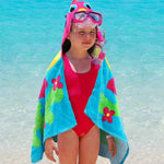 Embroidered Fish Hooded Beach Towel - Tressa Gifts