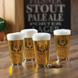 Personalized Pint Glasses Set of 4 - Tressa Gifts