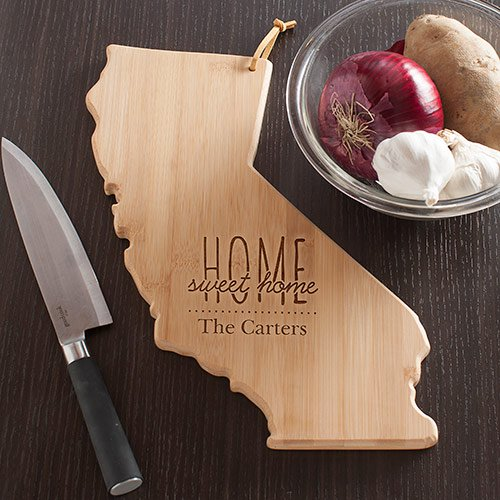 Personalized Home Sweet Home California State Cutting Board