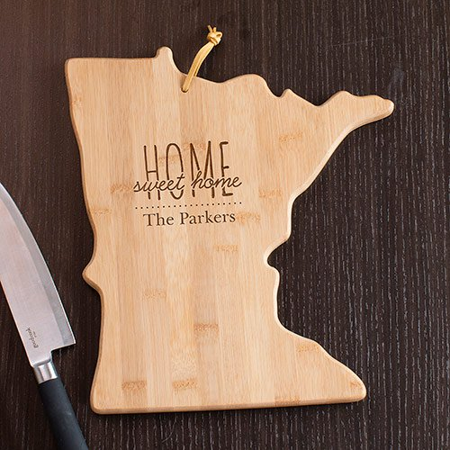 Personalized Home Sweet Home Minnesota State Cutting Board - Tressa Gifts