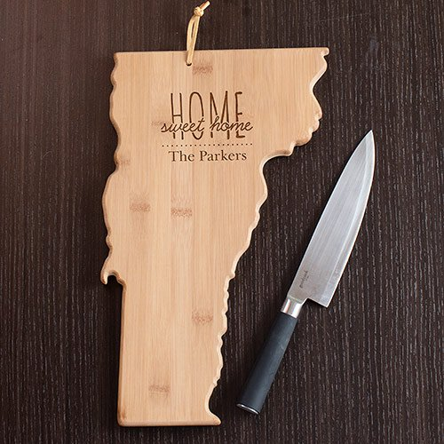 Personalized Vermont State Cutting Board - Tressa Gifts