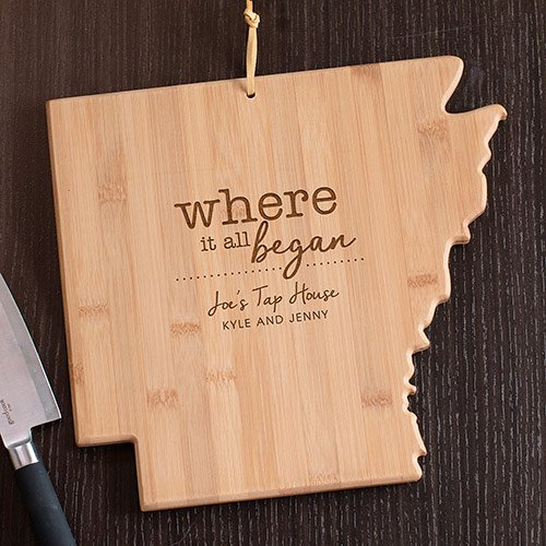 Personalized Home Sweet Home Arkansas State Cutting Board