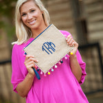 Multicolor Pom-Pom Clutch - Tressa Gifts