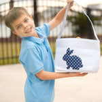 Blue Cotton Tail Easter Bucket