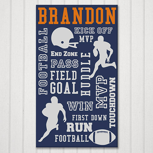 Personalized Football Word-Art Canvas - Tressa Gifts