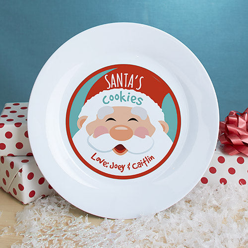 Personalized Cookies for Santa Plate - Tressa Gifts