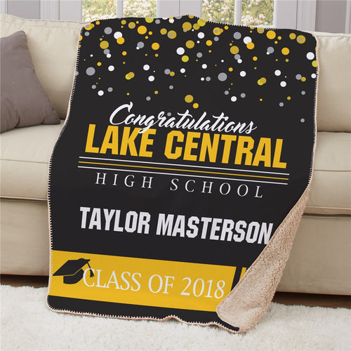 Personalized Congratulations Class Sherpa Throw - Tressa Gifts
