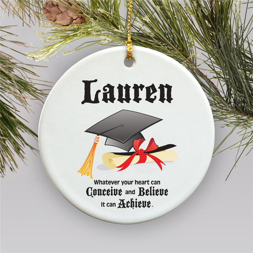 Personalized Ceramic Graduation Christmas Ornament - Tressa Gifts