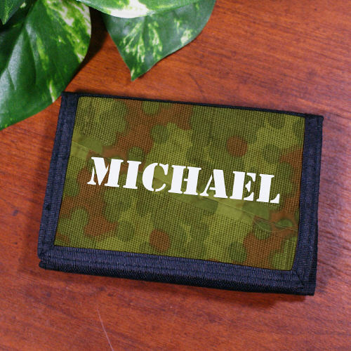 Personalized Camouflage Wallet - Tressa Gifts