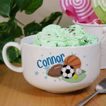 Personalized Ceramic Sports Ice Cream Bowl - Tressa Gifts