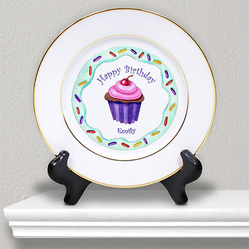 Personalized Ceramic Birthday Girl Plate - Tressa Gifts