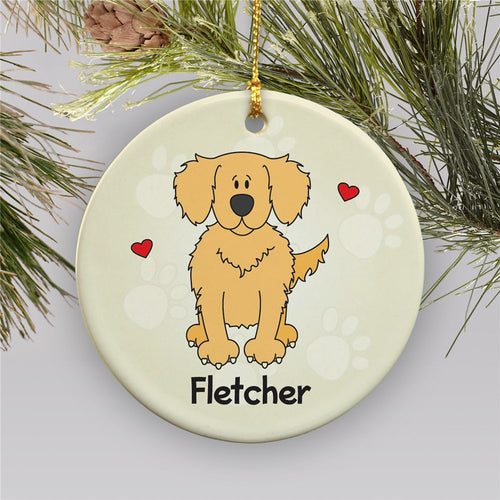 Personalized Ceramic Loved By My Golden Retriever Ornament - Tressa Gifts