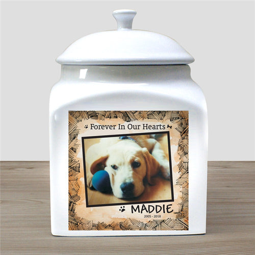 Personalized Ceramic Dog Photo Urn - Tressa Gifts