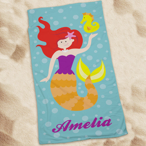 Personalized Mermaid Beach Towel - Tressa Gifts