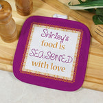 Personalized Seasoned With Love Pot Holder - Tressa Gifts