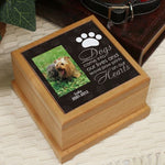 Personalized Pet Photo Wooden Memorial Urn - Tressa Gifts