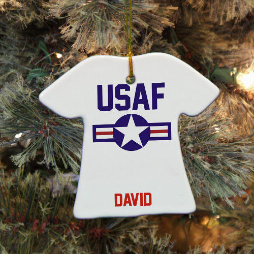 Personalized Ceramic Air Force Ornament