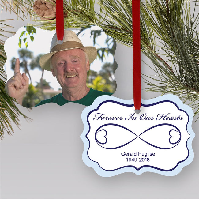 Sympathy Gift Photo Ornament | Photo Memorial Ornament