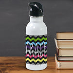 Personalized Chevron Water Bottle - Tressa Gifts