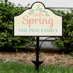 Personalized Hello Spring Magnetic Sign - Tressa Gifts