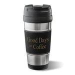 Leatherette Wrapped Stainless Steel Tumbler - Tressa Gifts