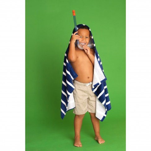 Dandy Stripe Hooded Towel