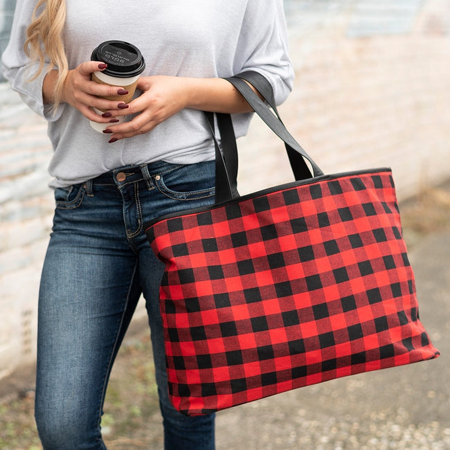 Red Buffalo Check Ally Tote