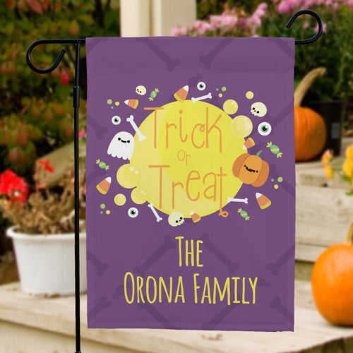 Personalized Trick or Treat Garden Flag