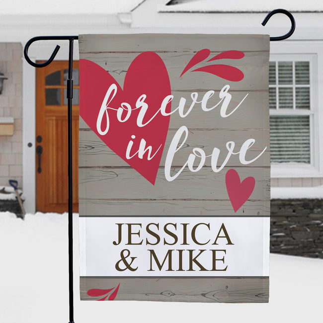 Personalized Forever In Love Garden Flag