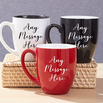 Personalized Any Message Bistro Mug - Tressa Gifts