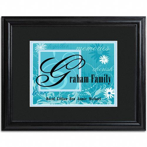 Family Name Frame  - BLUE - Tressa Gifts