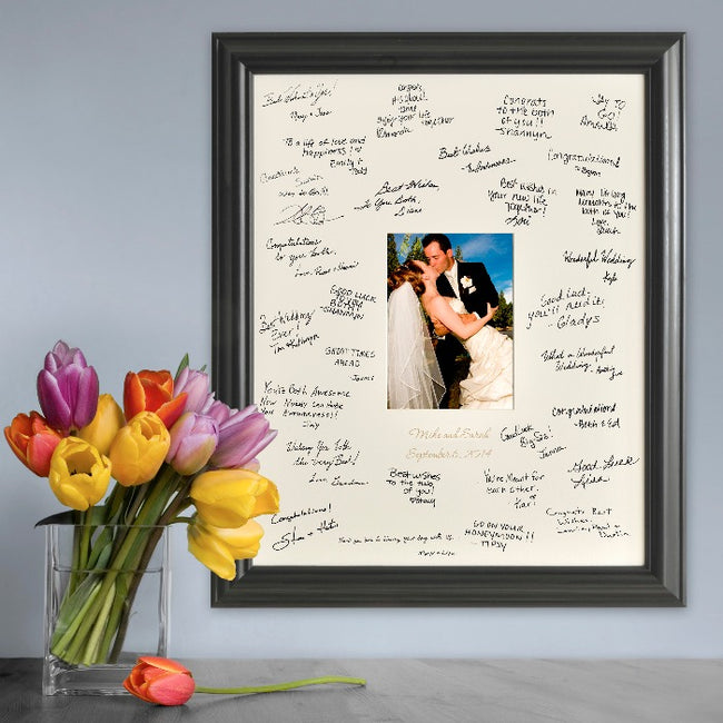 Personalized Laser Engraved Wedding Wishes Signature Frame - Tressa Gifts