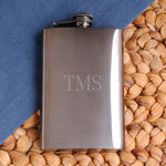 Personalized Gunmetal Flask - Tressa Gifts