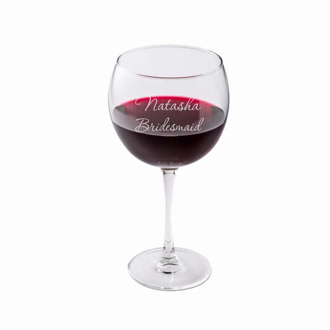 Personalized Red Wine Glass - Tressa Gifts