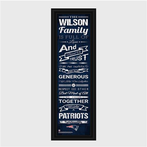 Personalized NFL Family Cheer Print & Frame - Patriots - Tressa Gifts
