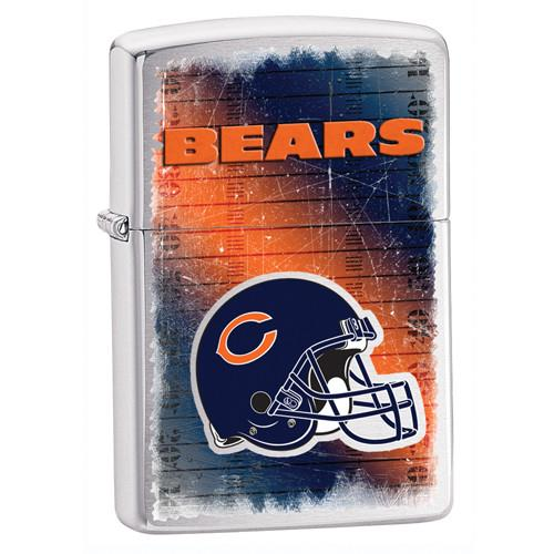 NFL Brushed Chrome Zippo Lighter - BEARS - Tressa Gifts