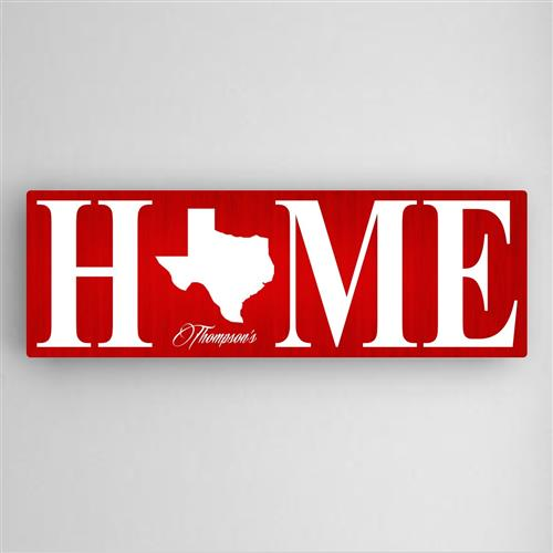 Home State Canvas Sign - Tressa Gifts